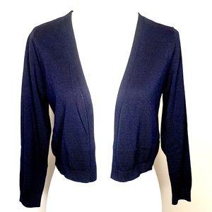 TALBOTS Blue Bolero Shrug Sweater S, M, XL